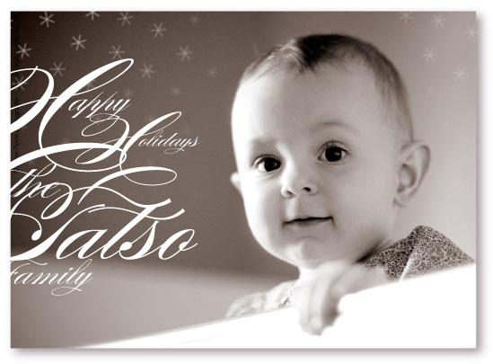 holiday photo cards - Snowflake Music by koshi