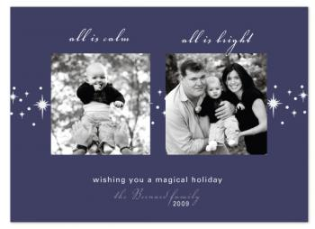 Silent Night Holiday Photo Cards