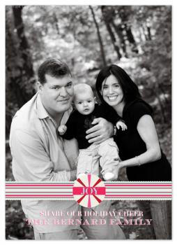 Peppermint Holiday card Holiday Photo Cards
