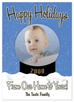 Family Snow Globe Holiday Photo Cards
