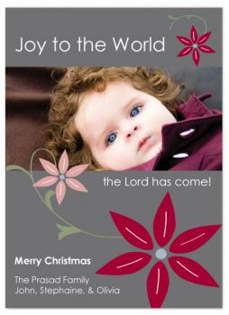 floral joy Holiday Photo Cards