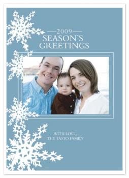 Snowflakes Holiday Photo Cards