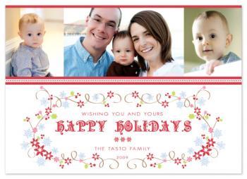 Christmas Flourish Holiday Photo Cards