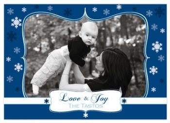 love and joy Holiday Photo Cards