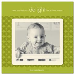 delight Holiday Photo Cards