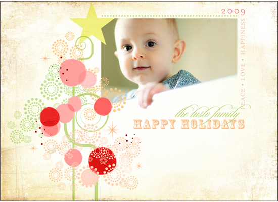 holiday photo cards - Candy Tree by Gleaux Art and Design