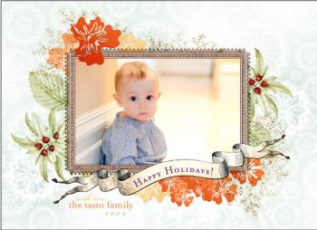 Citrus Snowflakes Holiday Photo Cards