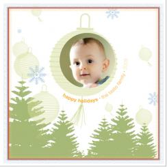 Chilly Lanterns Holiday Photo Cards