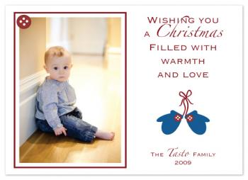 Cute as a Button Holiday Photo Cards