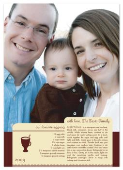 eggnog favorite recipe card Holiday Photo Cards