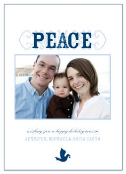 Peace Peace Holiday Photo Cards