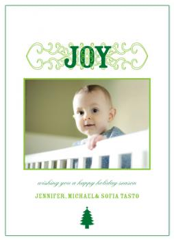 Joy Joy Holiday Photo Cards
