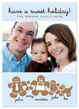 Gingerbread Family Holiday Photo Cards