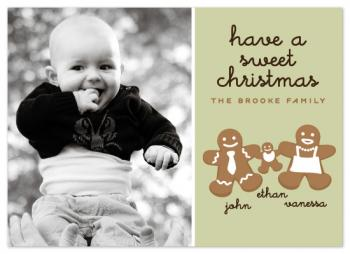 Gingerbread Holiday Photo Cards