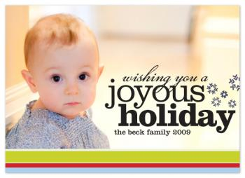 Ski Stripes Holiday Photo Cards