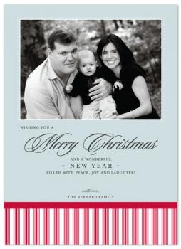 candy cane stripes Holiday Photo Cards