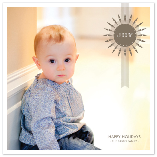 holiday photo cards - joy by Carrie Eckert