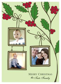 Berry Merry Christmas Holiday Photo Cards