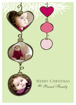 Love-ly Ornaments Holiday Photo Cards