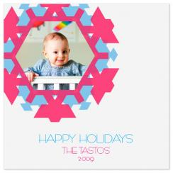 aztec snowflake Holiday Photo Cards