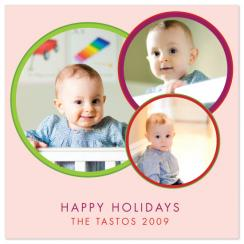 circles Holiday Photo Cards
