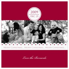 Date Stamp & Lace Holiday Photo Cards