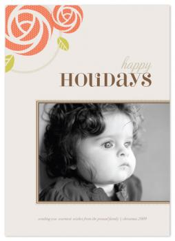 Knit Rosette Holiday Photo Cards