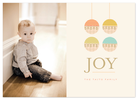 holiday photo cards - organic ornament by kelli hall