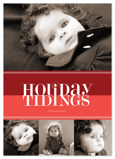 holiday photo cards - bold reflection by kelli hall