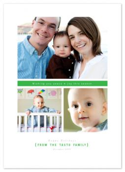 Modern Blocks Group Holiday Photo Cards