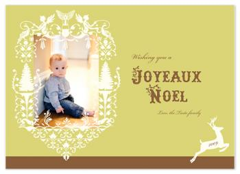 Angels and deer Holiday Photo Cards