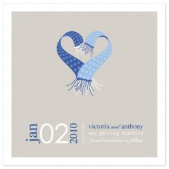 Winter Scarves Save the Date Cards