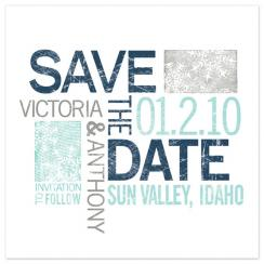 Organic Typography Save the Date