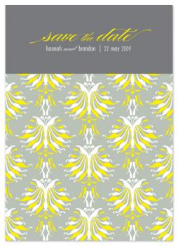 lotus pattern Save the Date Cards