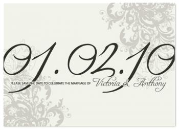 Understated Elegance  Save the Date Cards