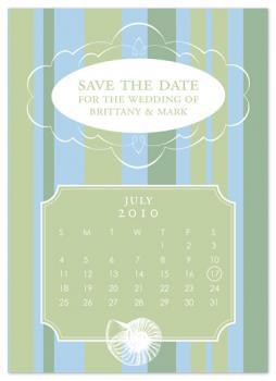 Summer Seashell Calendar