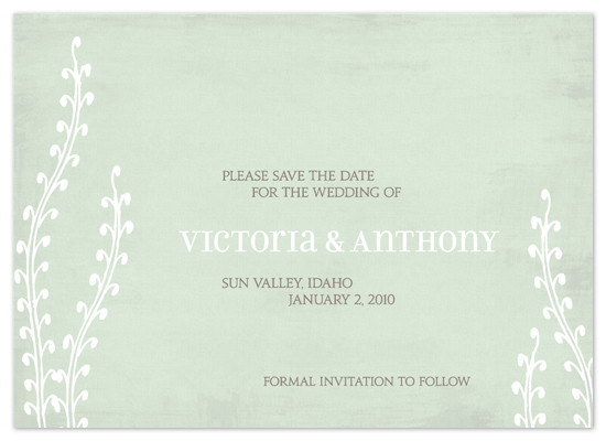 save the date cards - fields by Paper Dahlia