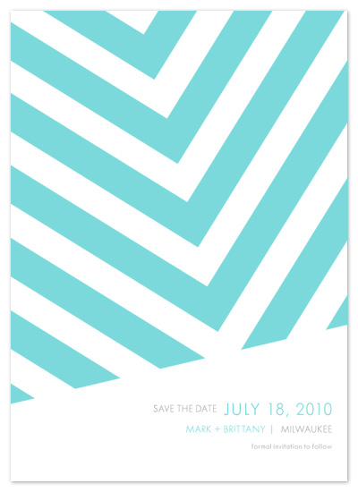 save the date cards - Fracas by Paper Plains