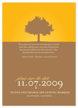 One Tree Save the Date Cards