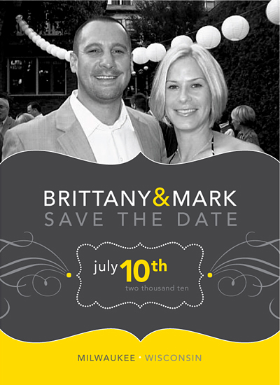 save the date cards - Modern Flair by Love at First Invite