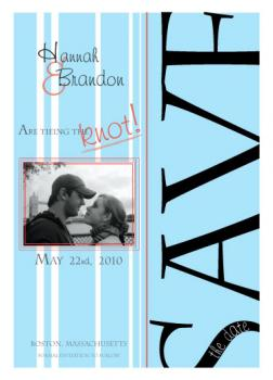 Blue strips Save the Date Cards