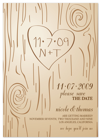 save the date cards - Fall Carving by Amanda Joy
