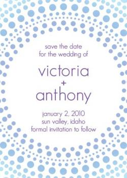 Winter Circles Save the Date Cards