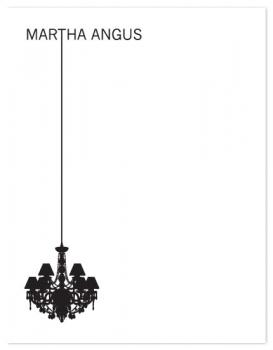 Chandelier Personal Stationery