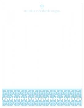 Fluer Blue Personal Stationery