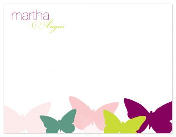Butterfly Bunch Personal Stationery