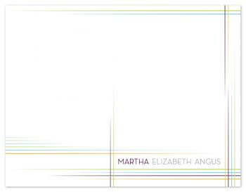 Contemporary Lines Personal Stationery