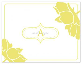 chartruse flower Personal Stationery
