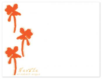 bold flowers Personal Stationery