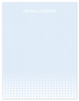 Blue Lights Personal Stationery